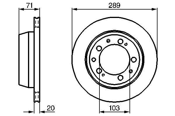 Disque de frein BOSCH 0 986 478 101 (X1)