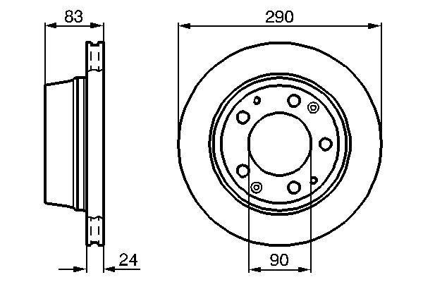 Disque de frein BOSCH 0 986 478 310 (X1)