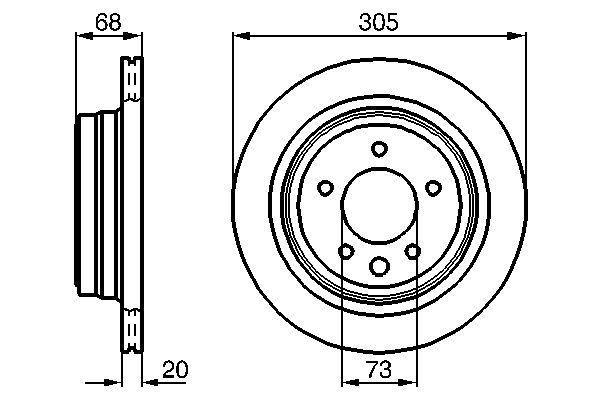 Disque de frein BOSCH 0 986 478 660 (X1)