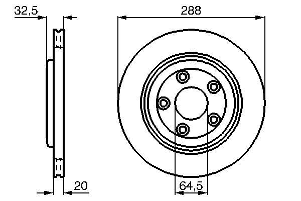 Disque de frein BOSCH 0 986 478 777 (X1)