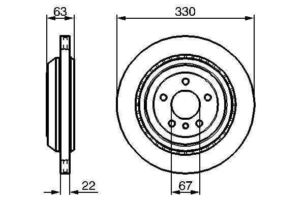 Disque de frein BOSCH 0 986 479 285 (X1)