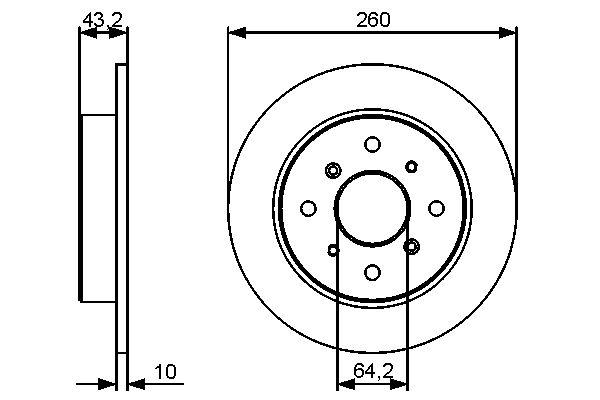 Disque de frein arriere (X1)