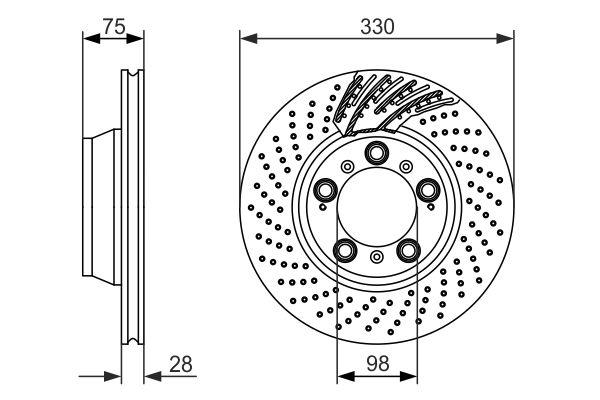 Disque de frein BOSCH 0 986 479 581 (X1)