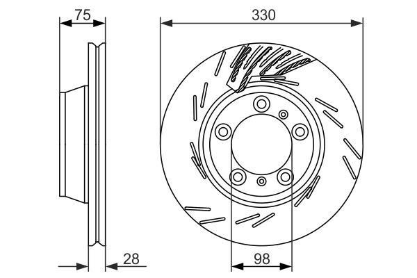 Disque de frein BOSCH 0 986 479 732 (X1)