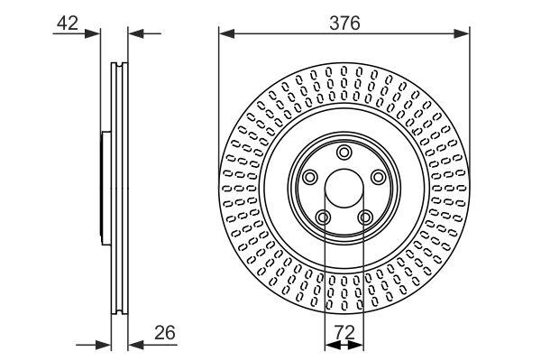 Disque de frein BOSCH 0 986 479 756 (X1)
