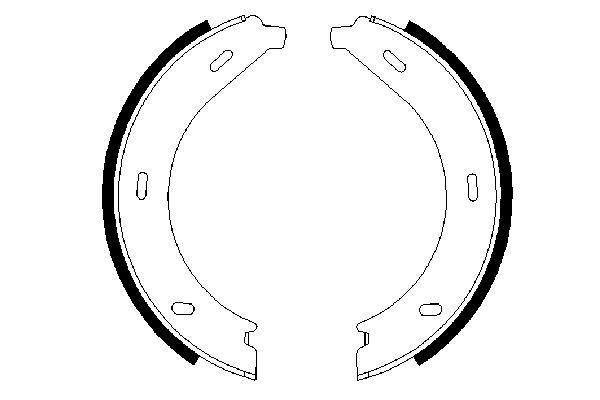 Jeu de mâchoires de frein de frein à main BOSCH 0 986 487 605 (X1)