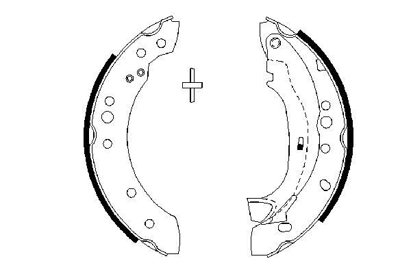 kit de frein arrière simple ou prémonté BOSCH 0 986 487 664 (X1)