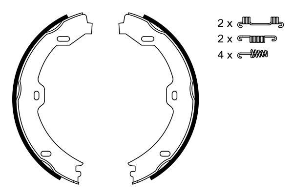 Jeu de mâchoires de frein de frein à main BOSCH 0 986 487 666 (X1)