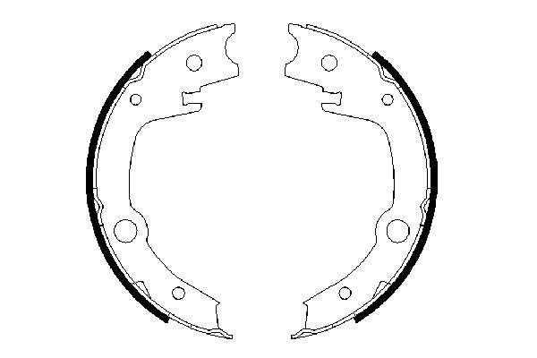 Jeu de mâchoires de frein de frein à main BOSCH 0 986 487 679 (X1)