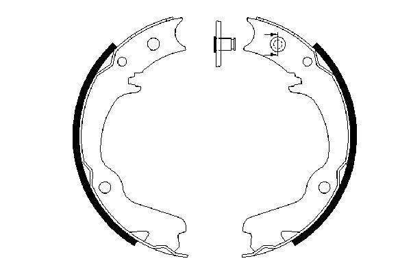 Jeu de mâchoires de frein de frein à main BOSCH 0 986 487 681 (X1)