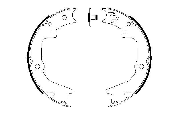 Jeu de mâchoires de frein de frein à main BOSCH 0 986 487 685 (X1)