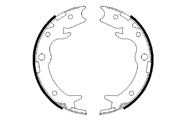 Jeu de mâchoires de frein de frein à main BOSCH 0 986 487 686 (X1)