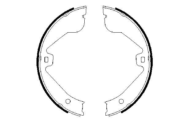 Jeu de mâchoires de frein de frein à main BOSCH 0 986 487 705 (X1)