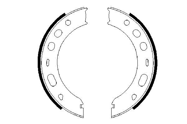Jeu de mâchoires de frein de frein à main BOSCH 0 986 487 706 (X1)