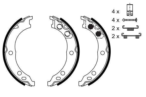 Jeu de mâchoires de frein de frein à main BOSCH 0 986 487 712 (X1)