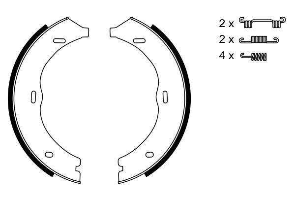 Jeu de mâchoires de frein de frein à main BOSCH 0 986 487 718 (X1)