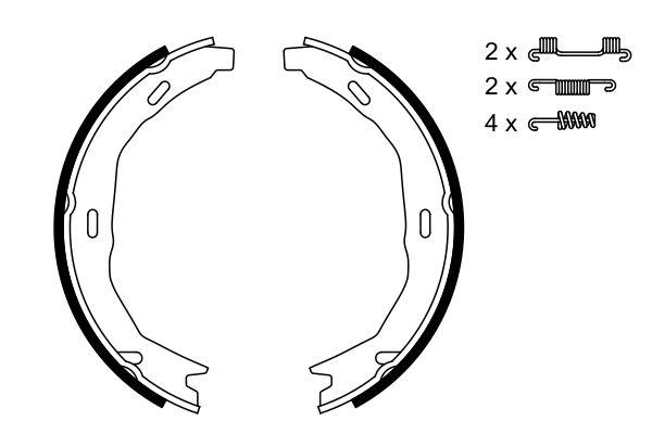 Jeu de mâchoires de frein de frein à main BOSCH 0 986 487 723 (X1)