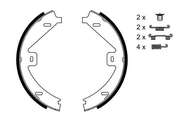 Jeu de mâchoires de frein de frein à main BOSCH 0 986 487 752 (X1)