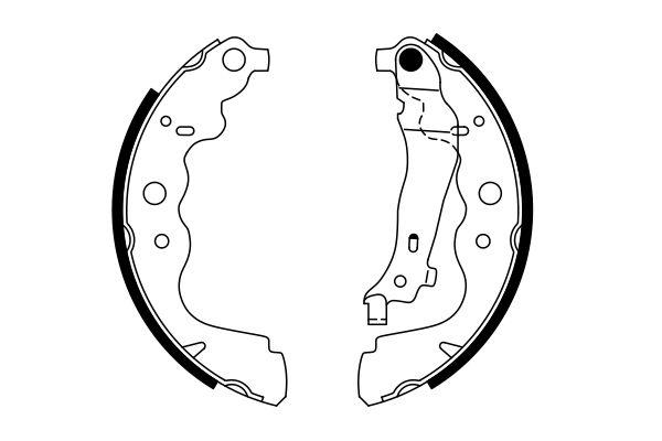 kit de frein arrière simple ou prémonté BOSCH 0 986 487 754 (X1)