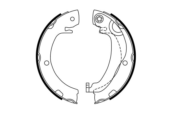 Jeu de mâchoires de frein de frein à main BOSCH 0 986 487 763 (X1)