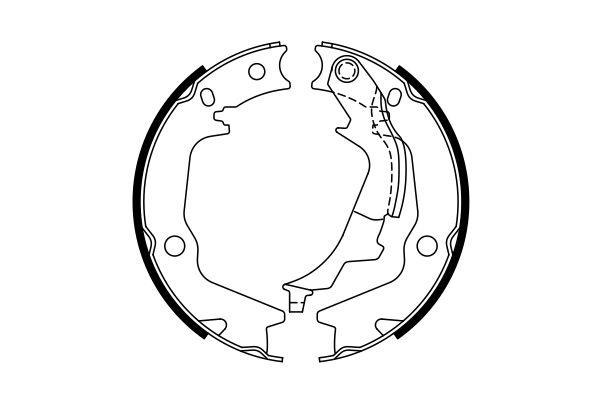 Jeu de mâchoires de frein de frein à main BOSCH 0 986 487 768 (X1)