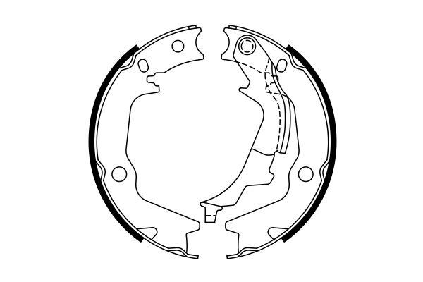 Jeu de mâchoires de frein de frein à main BOSCH 0 986 487 769 (X1)
