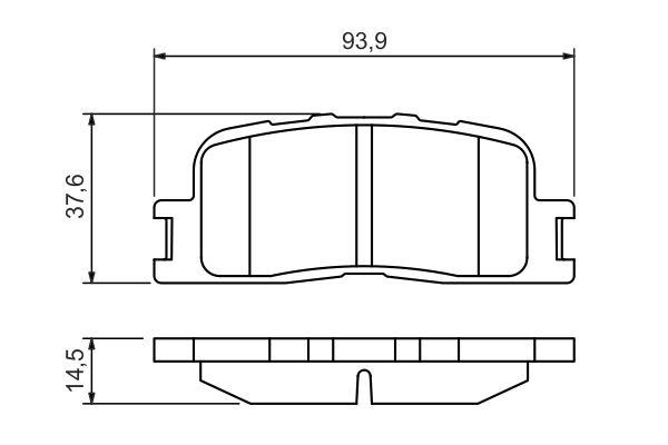 Kit de plaquettes de frein, frein à disque BOSCH 0 986 494 359 (Jeu de 4)