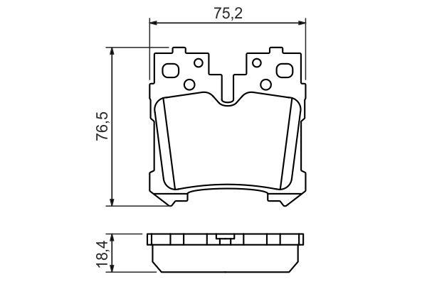 Kit de plaquettes de frein, frein à disque BOSCH 0 986 494 424 (Jeu de 4)