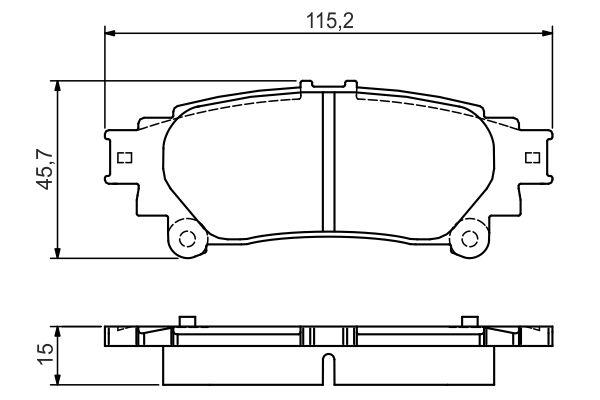Kit de plaquettes de frein, frein à disque BOSCH 0 986 495 174 (Jeu de 4)