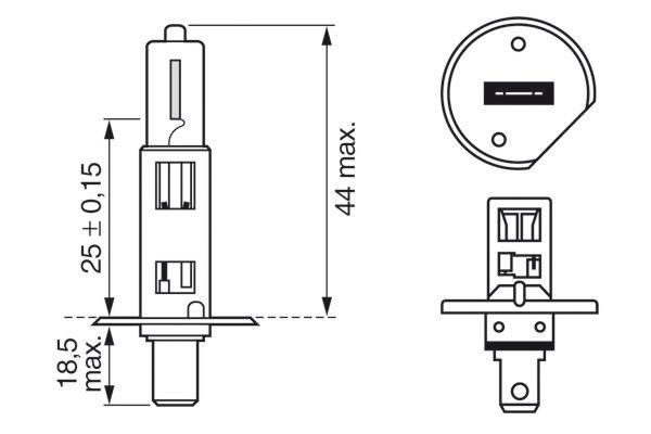 Ampoules BOSCH 1 987 302 018 (X1)