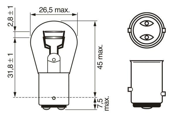 Ampoules BOSCH 1 987 302 282 (X1)