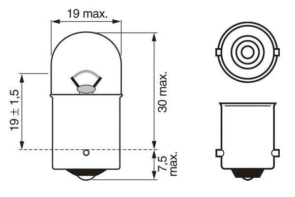 Ampoules BOSCH 1 987 302 283 (X1)