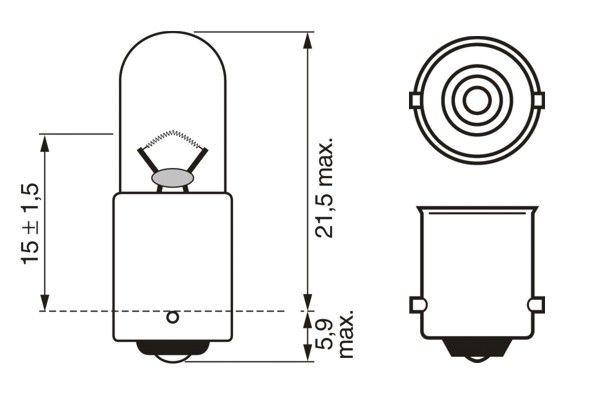 Ampoules BOSCH 1 987 302 287 (X1)
