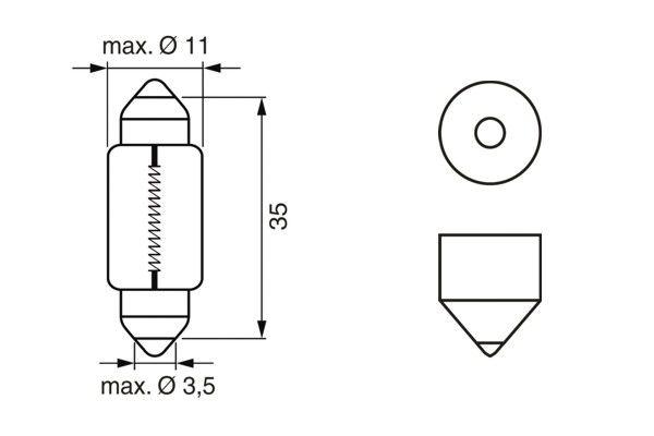 Ampoules BOSCH 1 987 302 281 (X1)