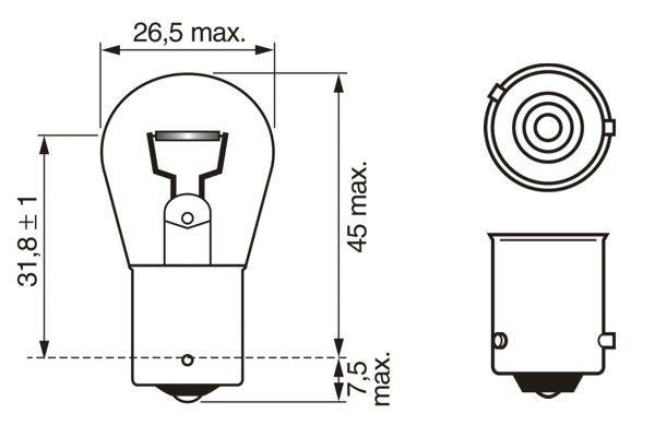 Ampoule, feu clignotant BOSCH 1 987 302 502 (X1)