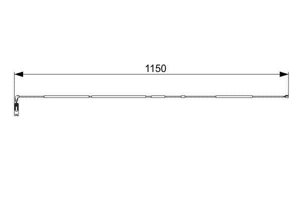 Temoin d'usure de frein BOSCH 1 987 473 004 (X1)
