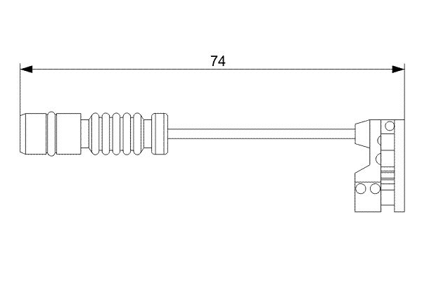 Temoin d'usure de frein BOSCH 1 987 473 008 (X1)