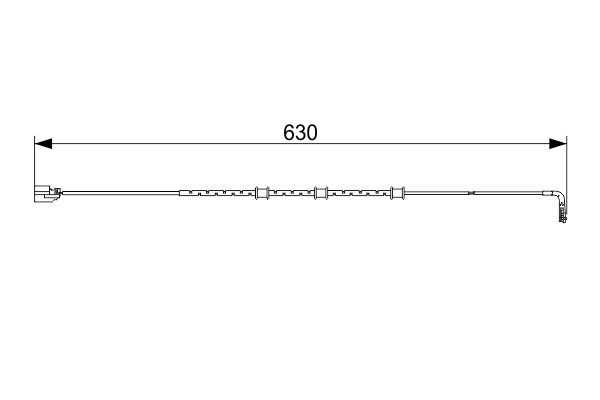 Temoin d'usure de frein BOSCH 1 987 473 556 (X1)