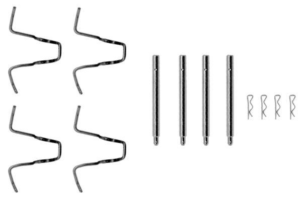 Kit de montage plaquettes de frein BOSCH 1 987 474 056 (X1)