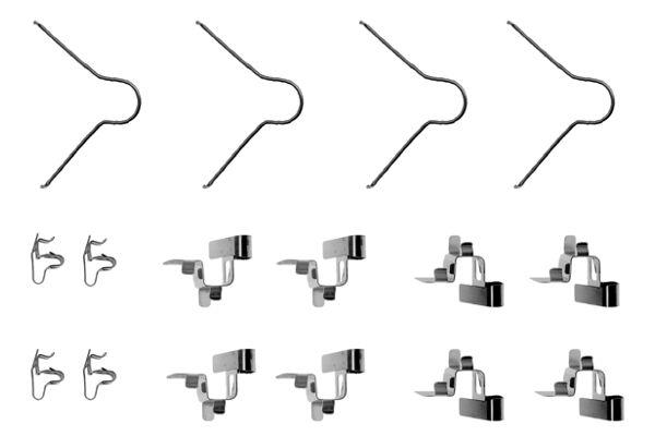 Kit de montage plaquettes de frein BOSCH 1 987 474 132 (X1)
