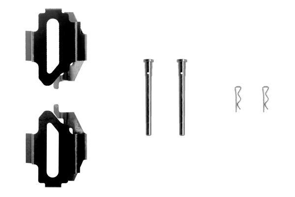 Kit de montage plaquettes de frein BOSCH 1 987 474 212 (X1)