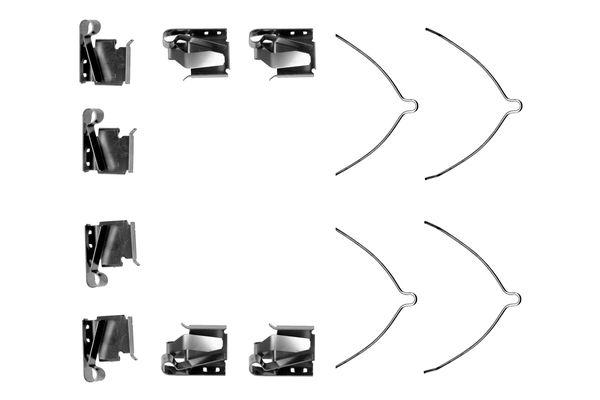 Kit de montage plaquettes de frein BOSCH 1 987 474 279 (X1)