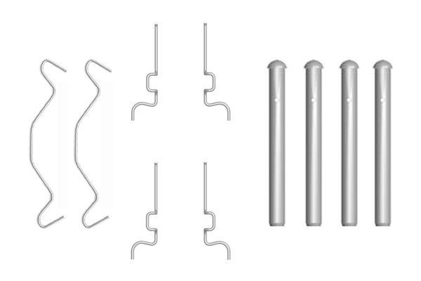 Kit de montage plaquettes de frein BOSCH 1 987 474 313 (X1)
