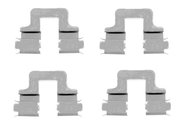 Kit de montage plaquettes de frein BOSCH 1 987 474 314 (X1)