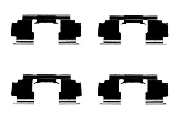 Kit de montage plaquettes de frein BOSCH 1 987 474 324 (X1)