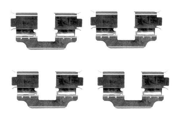 Kit de montage plaquettes de frein BOSCH 1 987 474 341 (X1)
