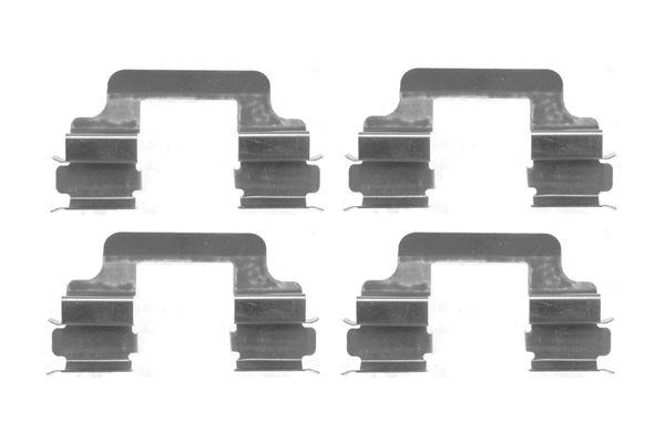 Kit de montage plaquettes de frein BOSCH 1 987 474 402 (X1)