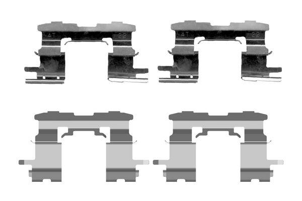 Kit de montage plaquettes de frein BOSCH 1 987 474 407 (X1)