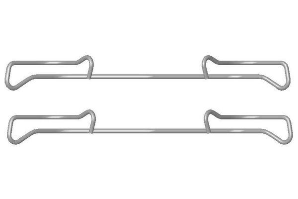 Kit de montage plaquettes de frein BOSCH 1 987 474 432 (X1)
