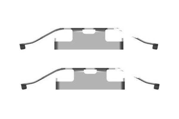 Kit de montage plaquettes de frein BOSCH 1 987 474 434 (X1)